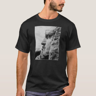 Workmen on George Washington Face Mount Rushmore T-Shirt