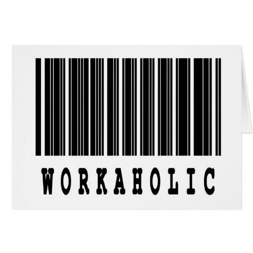 workoholic tarjeta de felicitación
