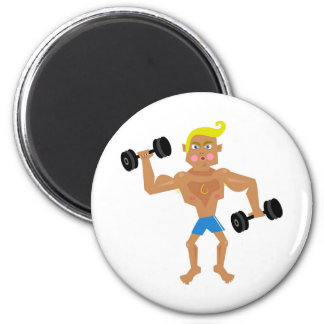 Workout 2 Inch Round Magnet