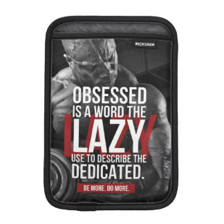 """Workout """"Body building"""" Gym Motivational Sleeve For iPad Mini"""