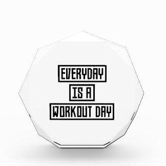 Workout Day fitness Z2y22 Acrylic Award