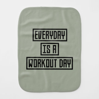 Workout Day fitness Z2y22 Baby Burp Cloth