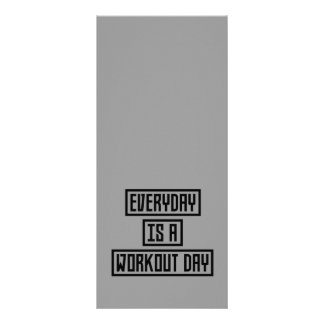 Workout Day fitness Z2y22 Rack Card