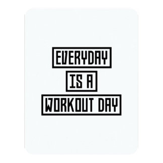 Workout Day fitness Zx41w Card
