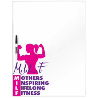 Workout Female  Fitness Motivation - MILF Dry-Erase Board