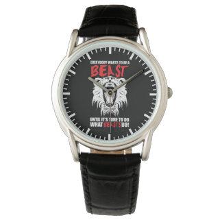 Workout Fitness Gym Motivation - Beast Wristwatch