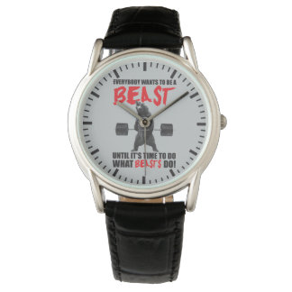 Workout Fitness Gym Motivation - Beast Wristwatches