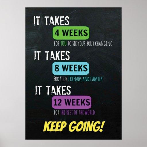 Workout Fitness Gym Motivational Poster | Zazzle