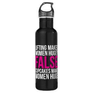 Workout Fitness Motivation - Lifting vs Cupcakes Water Bottle