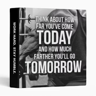 Workout Gym Motivational Words Binder