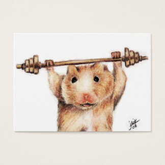 Workout (Hamster) ACEO Art Trading Cards