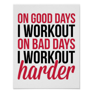 Workout Harder Gym Quote Poster