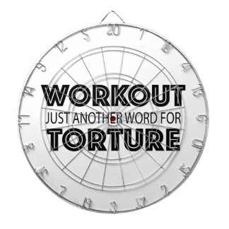 WORKOUT Just Another Word For TORTURE Dartboard