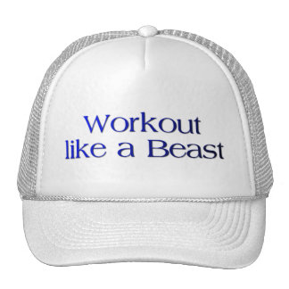 Workout Like a Beast Quote Trucker Hat