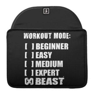 Workout Mode - BEAST MacBook Pro Sleeves