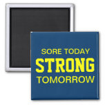 Workout Motivation 2 Inch Square Magnet