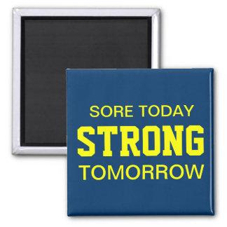 Workout Motivation 2 Inch Square Magnet