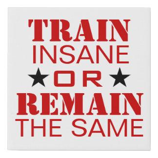 Workout Motivation Faux Canvas Print