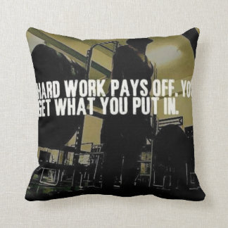 Workout Motivation - Hard Work Pays Off Throw Pillow