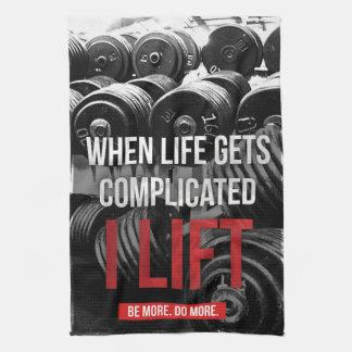 Workout Motivation - I LIFT Kitchen Towels