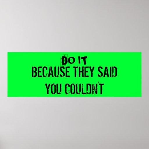 Workout Motivation Poster Poster