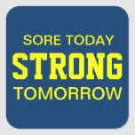 Workout Motivation Square Sticker