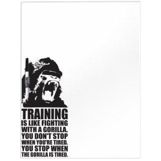 Workout Motivation - Training - Fighting A Gorilla Dry Erase Board