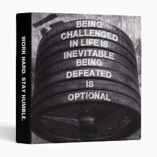 Workout Motivational 3 Ring Binder