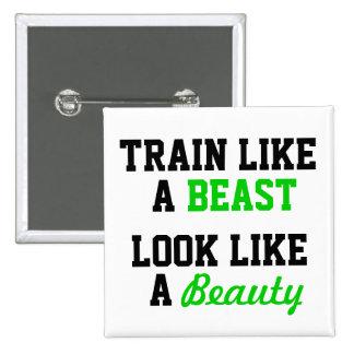 Workout Motivational Pinback Button