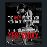 """Workout Motivational Poster<br><div class=""""desc"""">Get motivated or motivate others. Perfect poster for your gym,  room or any workout area.</div>"""