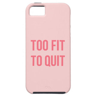 Workout Motivational Quote Too Fit Hot Pink iPhone SE/5/5s Case
