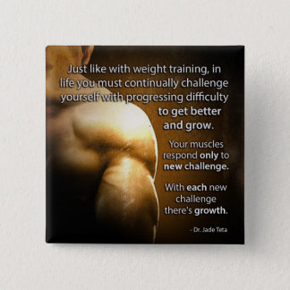 Workout Motivational Words - Challenge and Growth Button