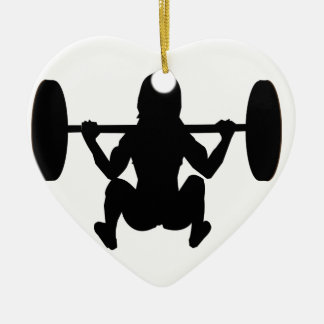 workout mum Double-Sided heart ceramic christmas ornament