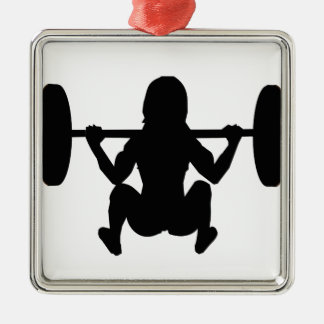 workout mum square metal christmas ornament