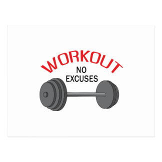WORKOUT NO EXCUSES POSTCARDS