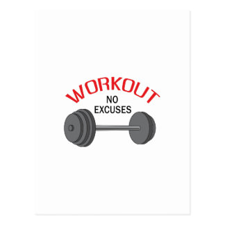 WORKOUT NO EXCUSES POST CARD