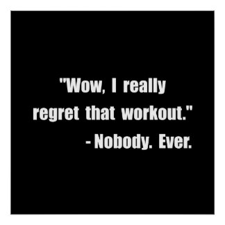 Workout Quote Poster
