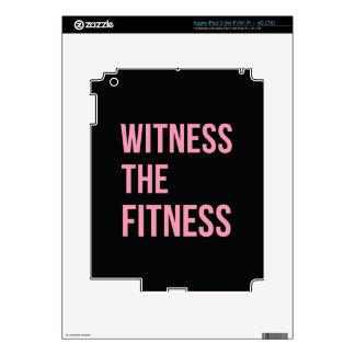 Workout Quote Witness The Fitness Black Pink iPad 3 Skins