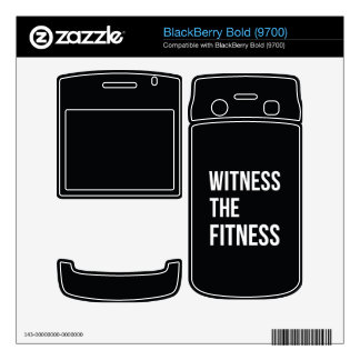 Workout Quote Witness The Fitness Black White BlackBerry Bold Decals