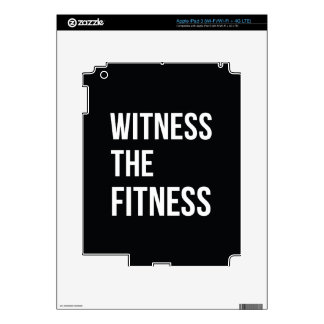 Workout Quote Witness The Fitness Black White iPad 3 Skin