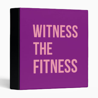Workout Quote Witness The Fitness Purple Pink Binder