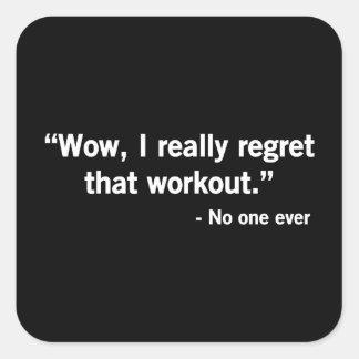 Workout Regret Sticker