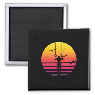 workout retro sunset, #workout magnet