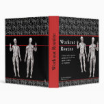 Workout Routine Notebook with Human Musculature Binder