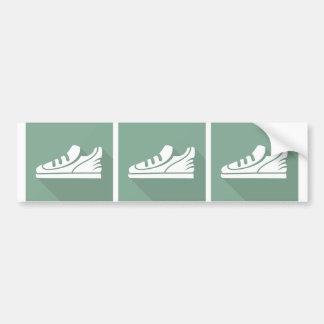 Workout Sports Athletic Shoe Car Bumper Sticker