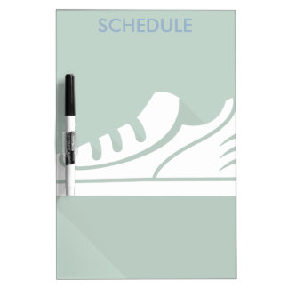 Workout Sports Athletic Shoe Dry-Erase Board