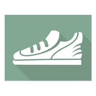 Workout Sports Athletic Shoe Postcard