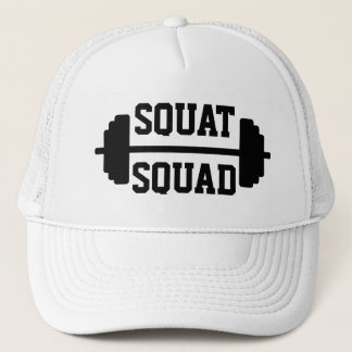 Workout Squat Squad Barbell Trucker Hat