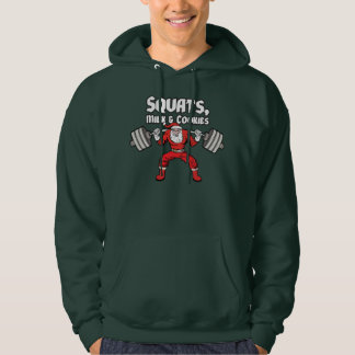 Workout - Squats, Milk and Cookies - Santa Claus Hoodie