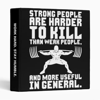 Workout - Strong People Are Harder To Kill Binder